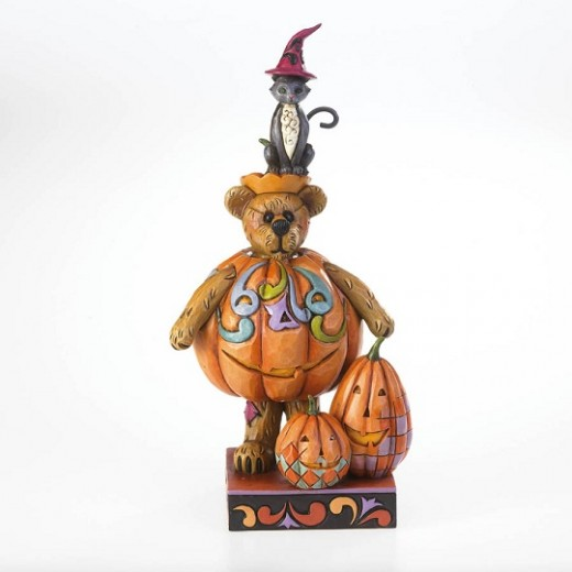 Jim Shore Halloween Pumpkin Resin Bear