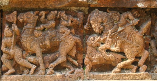 Terracotta of Raj Rajeswari temple 3