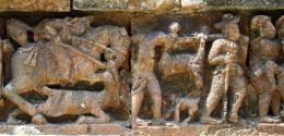 Terracotta of Raj Rajeswari temple :Hunting scene