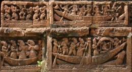 Terracotta of Raj Rajeswari temple :Boat ride 2