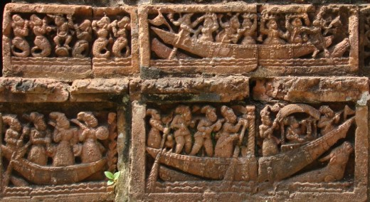 Terracotta of Raj Rajeswari temple :Boat ride 2