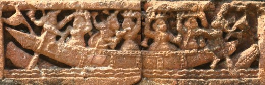 Terracotta of Raj Rajeswari temple :Boat ride 3