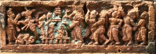 Terracotta of Raj Rajeswari temple