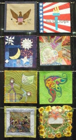 These are some of the quilts that were displayed by Alliance for American Quilts.