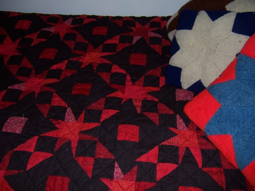 Stay warm and comfortable under a beautiful quilt.