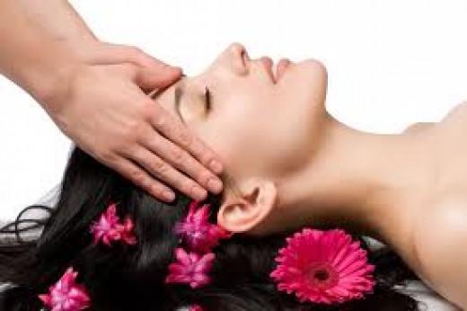 scalp massaging