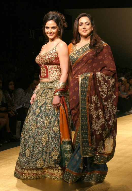 Hema Malini, with her daughter (also an actress)