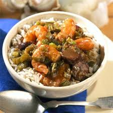 SHRIMP GUMBO, although tasty, but very spicy and hot-tempered. 'She' wants it to be just me and her when we are dining out.