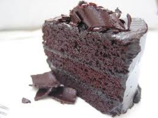 THE LOVELY CHOCOLATE CAKE always makes my mouth water when 'she' is served to my table.