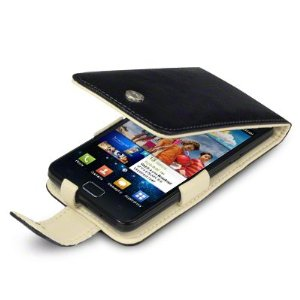 Samsung Galaxy S2 Black Leather Cover
