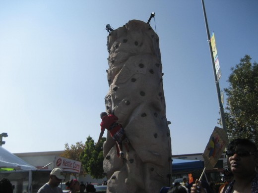 Rock Climbing at the festival