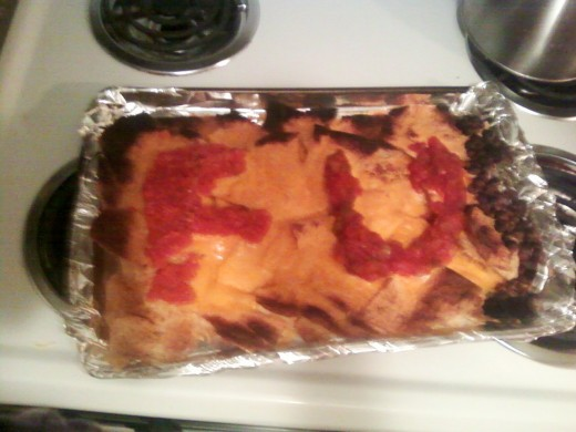 A nacho dish I made once.  It's comical.  It's offensive.  It's exactly what I like to say when I'm manic.