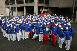 "The world record breaking photo for the ""Most People Dressed as Smurfs"" in San Francisco, United States, during the ""Bay to Breakers"" foot race."
