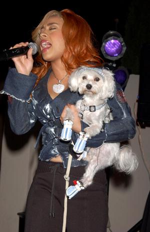 Keyshia and her dog, Lyric