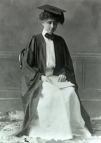 Helen, during her graduation.