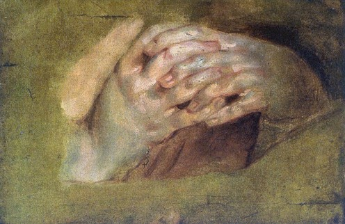 "Oil painting, ""Praying Hands"" by Peter Paul Rubens (1577–1640) Public Domain via Wikimedia Commons"