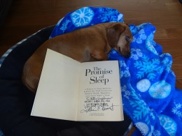 My autographed copy of The Promise of Sleep!