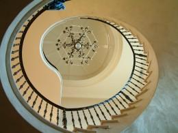 The circular stairway