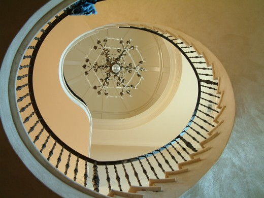 The circular stairway