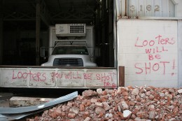 Looter warnings post-Katrina. New Orleans