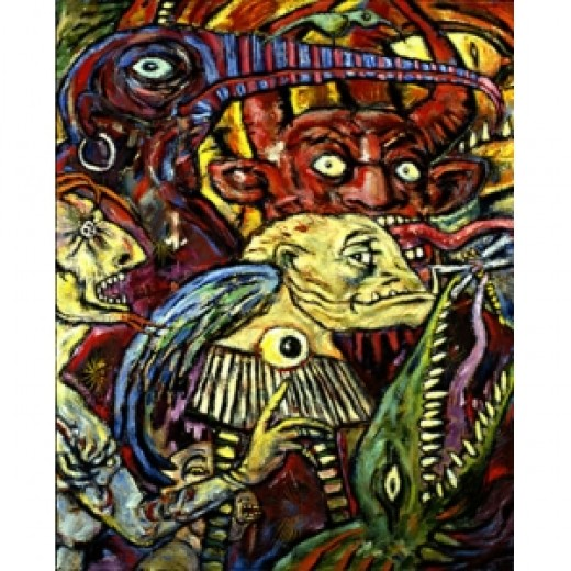 Clive Barker art taken from his Abarat books and Copyright Clive Barker 2011.