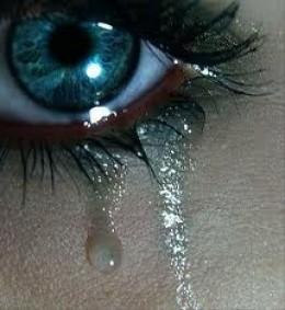 When tear drops fall