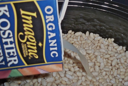 Cook Dried Beans in Organic Chicken Broth