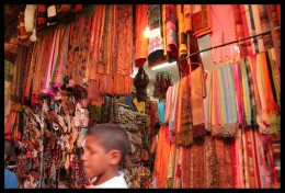 Scarves in the Souks of Marrakech