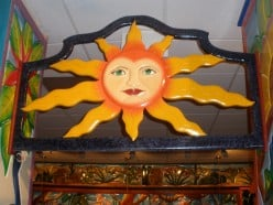 The sun greets you as you walk in!