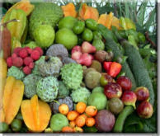 Indian fruits.