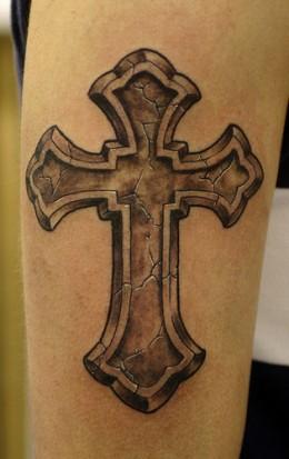 Irish Gothic Cross Tattoo