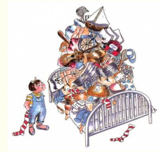 Messy Room Garbage