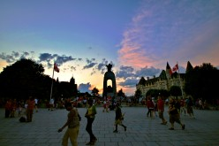 Ottawa on Canada Day. (Chateau Laurier may be seen behind the National War Memorial.)