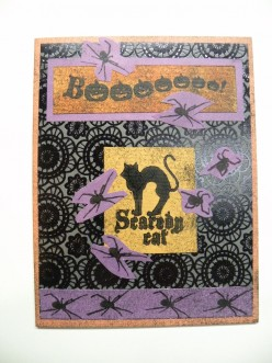 Easy to Make Happy Halloween Card created with Stamps