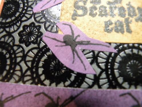 Spider rubber stamp