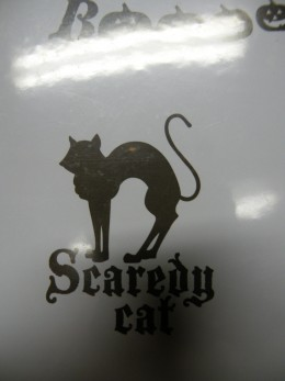 Scaredy Cat rubber stamp