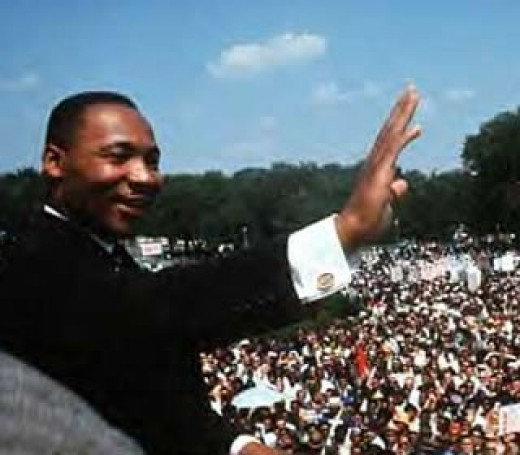 Example of an fairly advanced human being, Martin Luther King Jr., a leader with a vision for a better world.