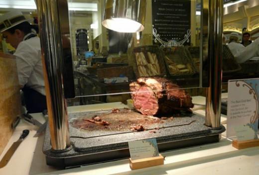 roast beef at Harrod's