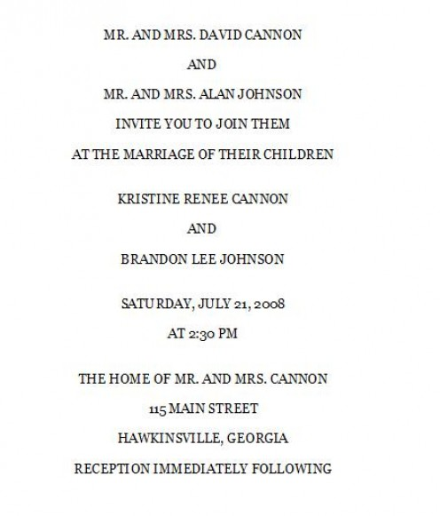 Wedding Invite Wording Couple Hosting with adorable invitation ideas