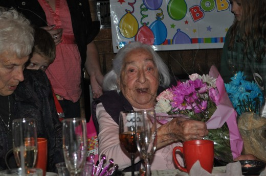 The birthday girl at her 95th birthday party!