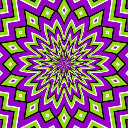 optical illusion stare at picture see it move