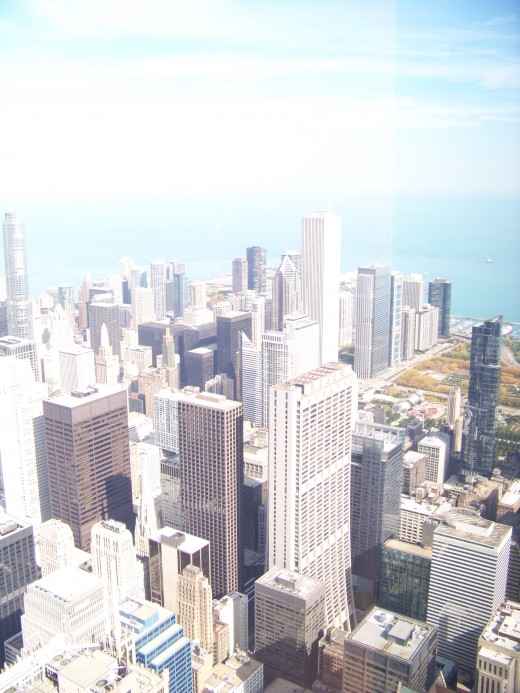 Great city of Chicago, view from Willis tower.