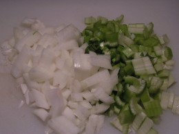 Chopped Onions and Celery