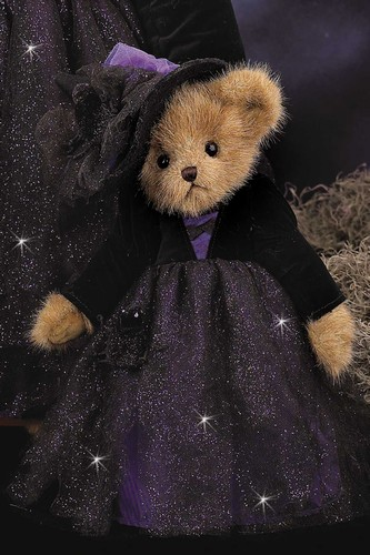 Fuzzy Bear Witch Perfect for Halloween Decorating