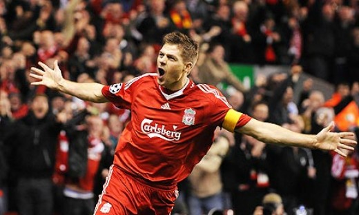 Steven Gerrard ecstatic after scoring a wonder goal!
