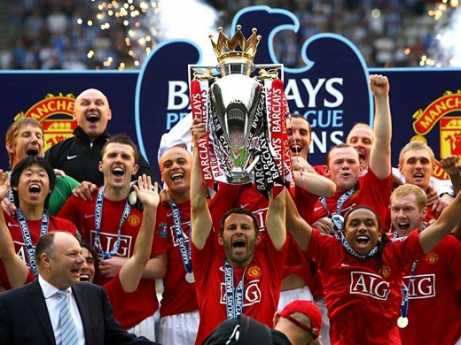 Manchester United - Premier League winners 2010-2011 season.