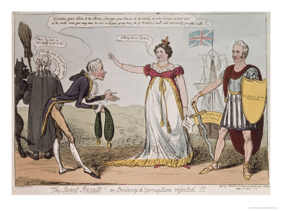The Secret Insult or Bribery and Corruption Rejected, Published by Benbow, 1820, by George Cruikshank