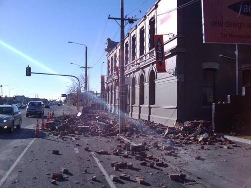 Earthquake damage.