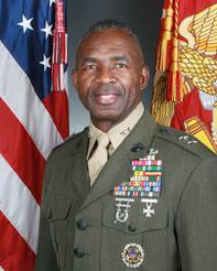 Commanding General, First Marine Division at Camp Pendleton, California. First African American to hold this post.