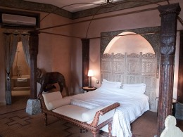 A typical riad bedroom